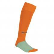 calza calcio arancio