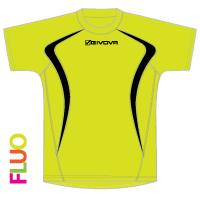 running shirt giallo fluo-nero