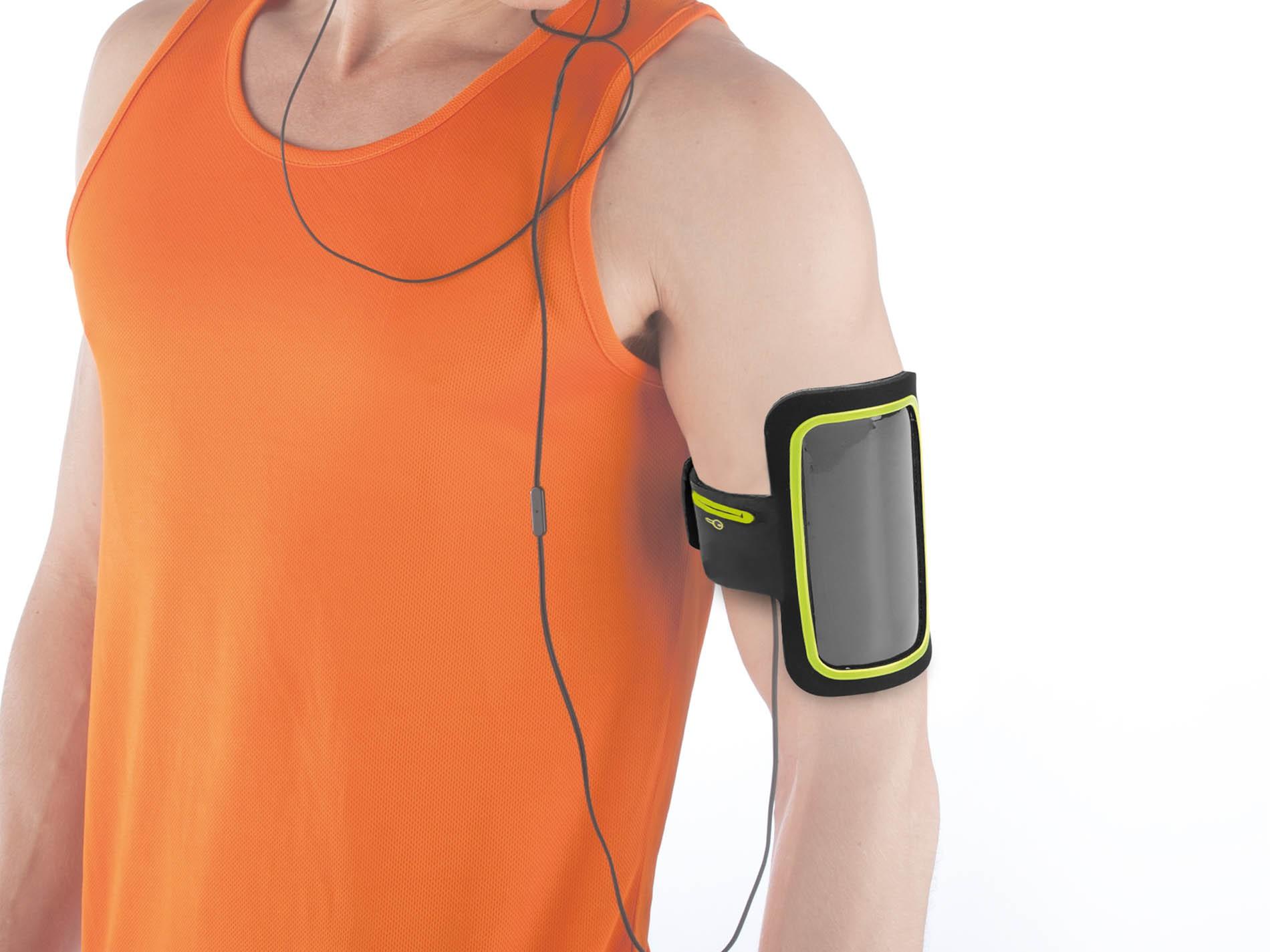 Porta cellulare da braccio con contorno colorato kimood - Porta ipod da braccio ...